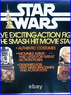 100% Vintage Kenner 1977 Star Wars 12 Back Shop Store Display Header Bin Tray