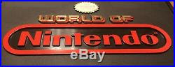 12 x 7 Vintage World Of Nintendo Double Sided Plastic Store Display Sign