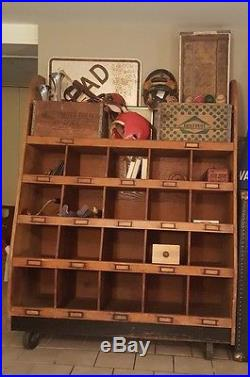 1920s Vintage General Store Cubby Display Cabinet Authentic