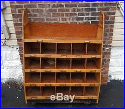 1920s Vintage General Store Cubby Display Cabinet Authentic MAKE AN OFFER