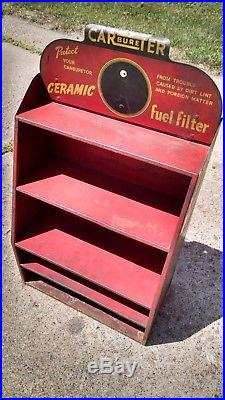 1940 Vintage Carter CARbureTER Carburetor Ceramic Fuel Filter Metal Display Sign