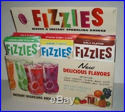 1950's FIZZIES Store Display with 25 packs vintage soda fountain kids food