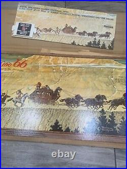1966 Winchester Stagecoach Norman Rockwell Poster Sale Die Cut Store Display