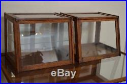 2 Antique vtg Original Store Display Gum Case Showcase counter top General Store