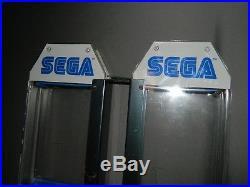 2 Vintage Original Sega Genesis Game Store Display Kiosk Sign Racks