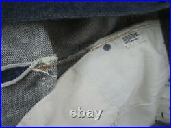 76x45 Levis 501 Promo Store Display Redline Selvedge blue jeans 80s Vintage