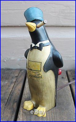 ANTIQUE Vintage Kool Cigarette Figural Willie the Kool Penguin Electric Lighter