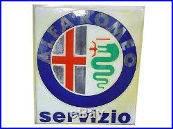 Alfa Romeo servizio, grande insegna plastica vintage anni'70