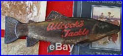 Allcock's Fishing Tackle Tin 3D Trout Advertising Sign