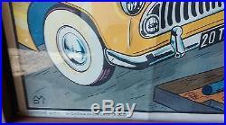 Ancienne affiche SIMCA ARIANE CHAMBORD, usine, vintage, garage, moto, no émaillée