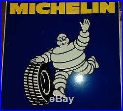 Ancienne plaque DOUBLE MICHELIN BIBENDUM 1996, lof, vintage, garage, no émaillée