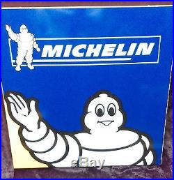 Ancienne plaque DOUBLE MICHELIN BIBENDUM, lof, vintage, garage, no émaillée