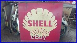 Ancienne publicité SHELL (station service), vintage, garage, auto, no émaillée