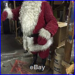Animated Giant Commercial 80 Store Display Santa Claus Vintage Creegan Co
