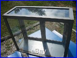 Antique Country General Store Display Case Vtg Counter Glass Display Cabinet