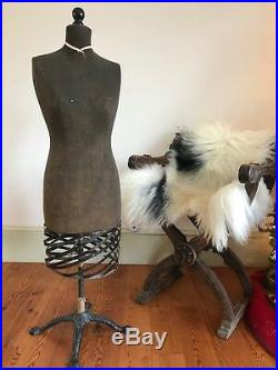 Antique Dress Form Vintage Clothing Store Window Display Mannequin Tailor