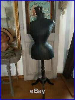 Antique French victorian Wasp Waist mannequin dressform Napoleon III 1850