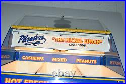 Antique Planters Mr Peanut Store Counter Display Hot Nuts Nickel Lunch RARE Vtg