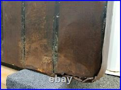 Antique Salvage Reclaimed General Store Tin Beveled Bar Mirror Spice Dispenser