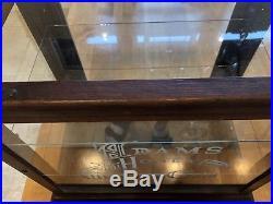 Antique Vintage Store Display Adams Gum Glass Oak Showcase Cabinet counter