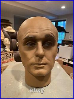 Antique Vintage Store Front Countertop Hat Display Mannequin Head Form Bust