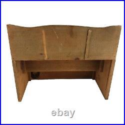Antique Vintage Wood Store or Bar Back Counter Display Shelf Rack