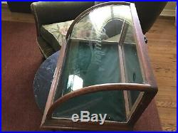 Antique Vtg Curved Glass Counter Store Display Cabinet Priwley Chewing Gum Prop