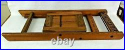 Antique WINCHESTER RIFLES & SHOTGUNS Slat Oakwood Folding Childs Size Chair