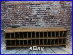Antique/vintage 30 Section Wood Storage Cubby Cabinet Primitive Store Display