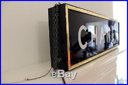 Authentic CHANEL Vintage Hanging Store Light Display Sign Rare