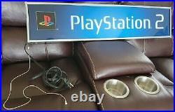Authentic Vintage Sony Playstation 2 Ps2 Lighted Retail Store Display Light Box