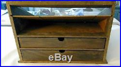 BOKER TREE BRAND VINTAGE COUNTRY STORE DISPLAY CASE CABINET w STORAGE