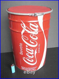 Bidone Sgabello Lattina Coca Cola Coke Vintage Pouff Anni 80 Fara Filiorum Petri
