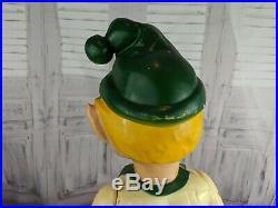 Blow mold jointed elf lantern xmas store display 1950s union vintage yard RARE