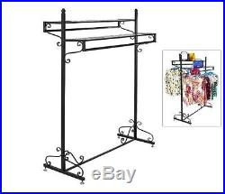 Boutique Clothing Rack Garment Retail Shelves Display Store Vintage Hanger Bar