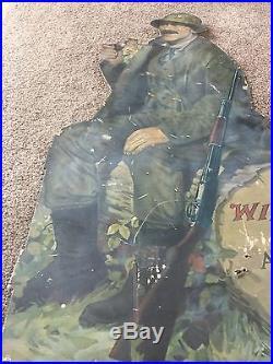 C1915 Winchester Die cut Advertising 40x 26 Model12 Shotgun Partial 1 of 3 NR