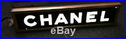 CHANEL Authentic Vintage 1950's Hanging Store Display Light Sign Rare