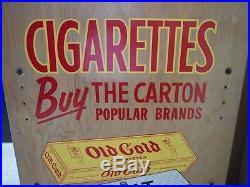 Camel Old Gold Vintage 1950s Cigarette Rolling Display WithVivid Graphics Tobacco