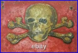 Cartello pericolo di morte chi tocca i fili muore originale anni 50 vintage