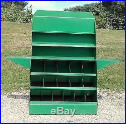 Country Store Seed Display Cabinet Folds Up with 33 Seed Jars Circa 1930 VTG