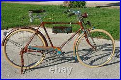 Custom Vintage steampunk Bicycle rat rod Bike 28 Cruiser antique Store Display