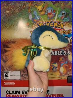 Cyndaquil Fuzzy Hasbro Store Display Plush Ultra Rare Vintage Pokemon Prototype