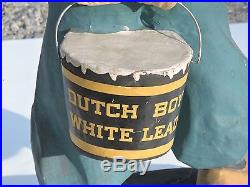 Dutch Boy Large Vintage Paper Mache Store Display