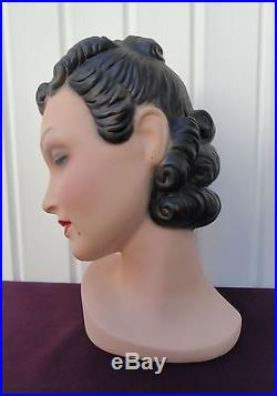Decoeyes Mannequin Head/Bust Vintage 1940s Style Store Hat Display UNUSUAL Pam