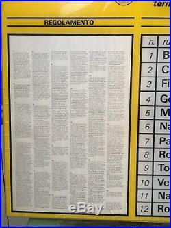 ENALOTTO 1X2 Ricevitoria Totocalcio Vintage Anni 70 Pubblicità Insegna Tabella