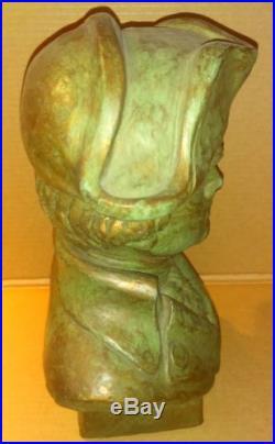 ETHAN ALLEN Bust VERY RARE Store Display Advertising 1965 Art Sculpture VINTAGE
