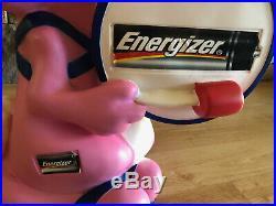 Energizer Bunny 20 Vinyl Advertising Batteries Store Display Vintage