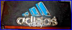 Epic Original Adidas Sneaker Neon Insegna Vintage Store Point Of Sale Sign