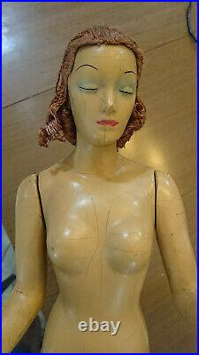 Extremely Rare Vintage Mannequin Miniquin Doll Counter Store Display