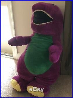 GIGANTIC Vintage Barney JC Penny Store Display Plush Stuffed Purple Dinosaur 52